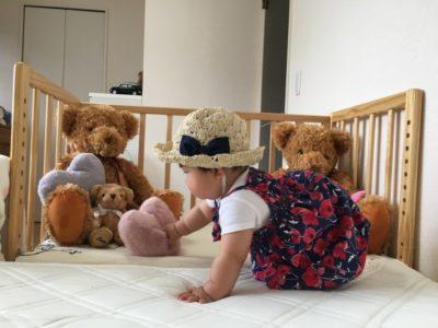 babybed1 400x300 - 【ベビーベッドがおしゃれなインテリア7選】リメイク&工夫次第でこんなにも可愛い使い方が!